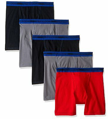Fruit of the Loom Big Boys 5 Pack Sport Boxer Brief, Assorted, L