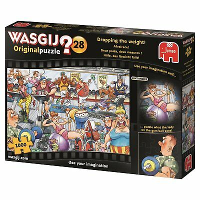 Wasgij Original 28 Dropping the weight 19156 Jumbo 1000 Teile NEU OVP