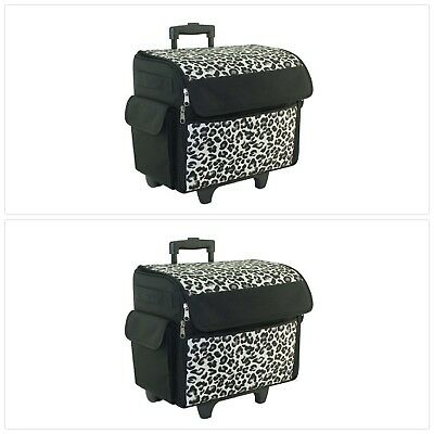 ROLLING SEWING MACHINE Tote Cover Case Box Everything Mary Cheetah Mesmerizing Everything Mary Sewing Machine Tote