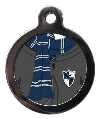 Blue and Grey Scarf Pet Tags Wizard Movie Film Themed Dog Cat ID Tags Custom Tag