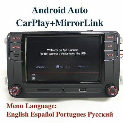 VW Golf Polo 6.5'' MIB RCD330 Android Auto CarPlay MirroLink AUX Free Adapters