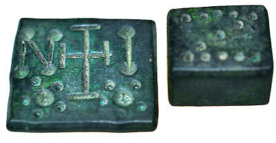 Lot of two Byzantine Bronze Thick Commercial Weights