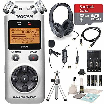 Tascam DR-05 (Version 2) Portable Handheld Digital Audio Recorder (Silver) with