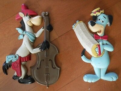 1978 HOMCO Huckleberry Hound & Quick Draw McGraw wall plaques