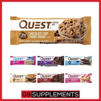 Quest Nutrition Bars 12x60g, High Protein High Fiber Bars - NEW STOCK!