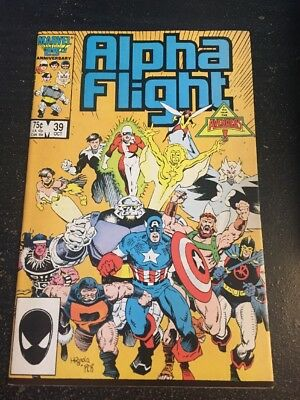 Alpha Flight#39 Incredible Condition 9.4(1986) Avengers App,Mignola Cover!!
