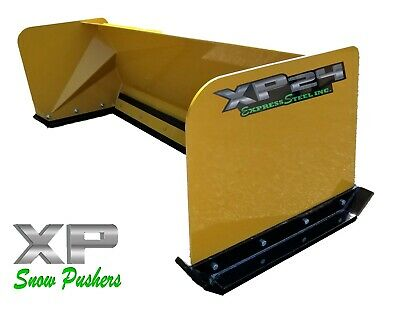 5' Low Pro snow pusher box LOCAL PICK UP-RTR skid steer Bobcat Case Caterpillar