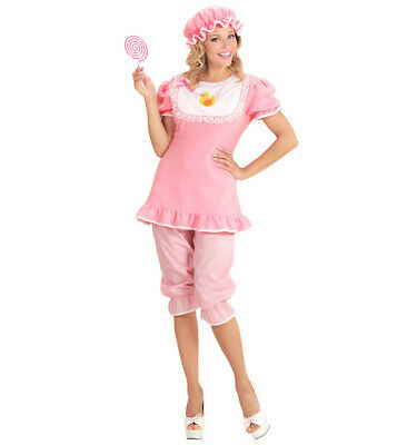 0b99c6dd317 ADULT BABY GROW Costume Womens Mens Romper JumpSuit Pink Fancy Dress ...