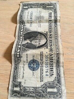 United States Of America Series 1957 A  Silver Certificate One Dollar Note