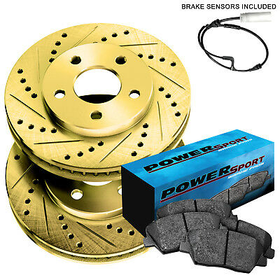 Front Drilled Slotted Brake Rotors /& Ceramic Pads For Mini Cooper