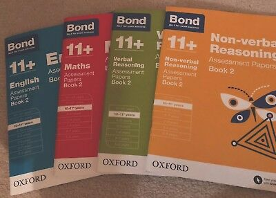 Bond 11+ 10-11 Book 2 Assessment Papers Math English Verbal & Non-verbal