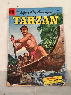Vintage Tarzan Comic Book Dell September 1955 The Stable Lion Vol 1 No. 72