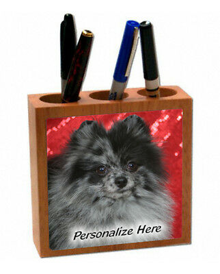 Pomeranian     merle color   ( 20 )   Personalized  Pencil and Pen Holder