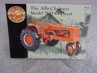 Ertl 1/16  Allis Chalmers Wd-45 Tractor  Precision Book Only