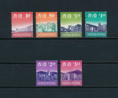 Hong Kong  763a-74b MNH, Complete Skyline Coil Issue, 1997