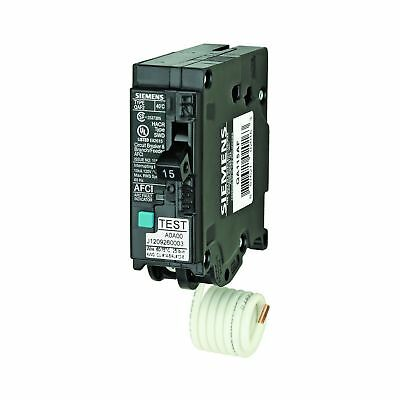Siemens QA115AF 15-Amp, Single Pole, 120-volt, Plug On Type, Branch Feeder St...