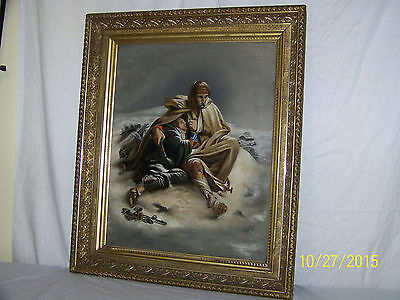 Extraordinary Antique Russian c19th Century Original Oil On Canvas Painting