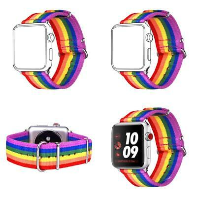 Apple Watch Band Strap Replacement Pride Colors Lgbt Rainbow Wrist Brace 42Mm