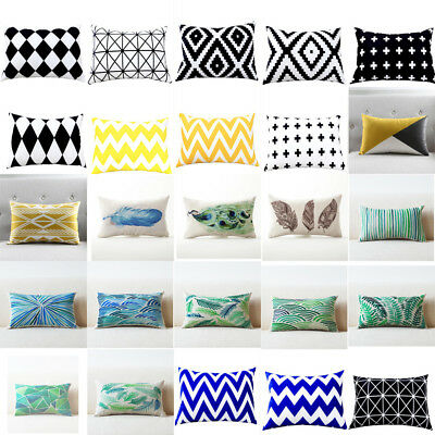 Rectangle Pillows Case Throw Pillow Cushions Cover Home Decor Geometric Cushion