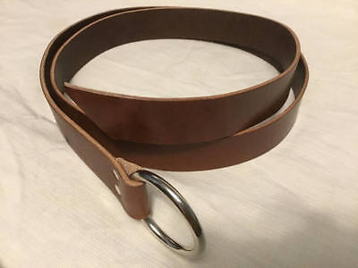 "Brown Latigo Leather Ring Belt 1.5""; 12 Sizes! SCA, Cosplay, LARP, Pirate Faire"