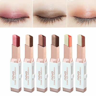 Beauty Korean Cosmetics Two Tone Eyeshadow Bar Pencil Pen Makeup Gifts 6 Colors