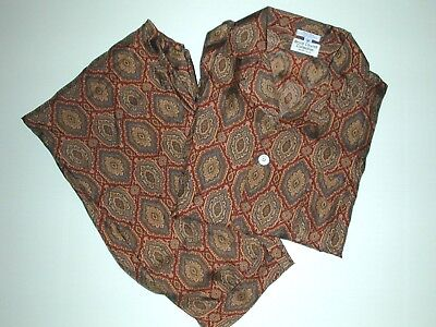 Mens Vintage Silk L/S Pajamas Washable Silk Made in USA Size M FREE SHIPPING