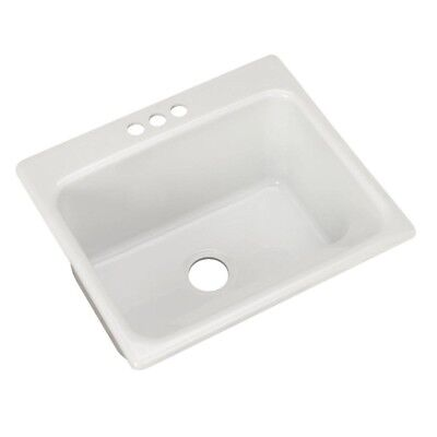 Drop In Single Bowl Kitchen Utility Sink Laundry Room Tub