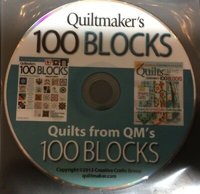 Quiltmaker's, and Quilts from, 100 Blocks, Magazines, 2013, on PC Disc Disc Only