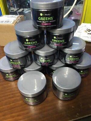 12 JARS of IT WORKS! Greens for  (Berry flavored)4.5 oz new sealed product 5/18