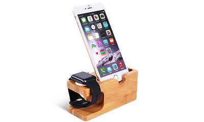 Wooden Charging Dock Charge Holder for iWatch iPhone Stand Apple Watch