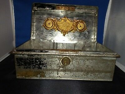 Metal Cash Box,  Hobbs & Co., Cheapside, England.