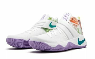 "Nike Kyrie 2 (GS) White/Hyper Jade/Mango ""Easter"" (826673 105) YOUTH Sz. 6.5"
