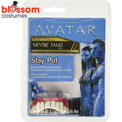 AC366 Avatar Movie Neytiri Ladies Costume White Fangs Teeth Halloween Accessory