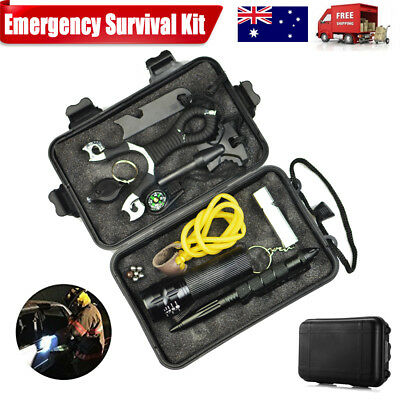 Emergency Survival Equipment Outdoor Sports Tactical Hiking Camping Aid Tool Kit