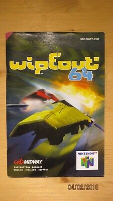 Wipeout 64 Nintendo 64 N64 Instruction Manual Booklet