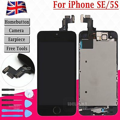Screen LCD For iPhone SE 5S Display Touch Digitizer Assembly Replacement Black