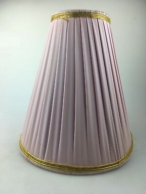 Vintage - Barsoney - Silvercloud Pink Lamp Shade With Gold Trim