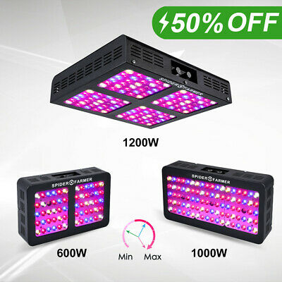 Spider Farmer Dimmable LED grow light 300W 450W 600W Full spectrum Veg Bloom IR