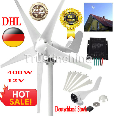 400W Wind Turbine Generator Kit Max AC 12V 5 Blades Option Aerogenerator DE DHL