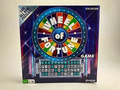 Brand New Wheel of Fortune Game 4TH Edition By Pressman fun for the Whole Family