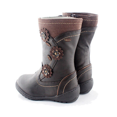 Classical Qualit Flowers Child Girl's Kids Kid Snow Boot Boots Girl Winter Shoe