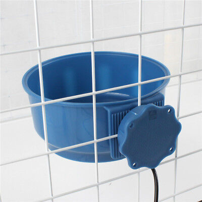 Dog Heated Feeding Bowl Electric Thermal Hanging Food Water Dish Pet Supplies THERMAL ELECTRIC PET Cat Waterer Outdoor Heat