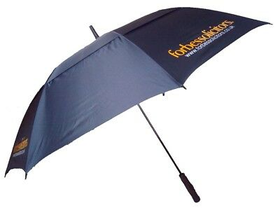 Golf Umbrella with Double Canopy Wind Vented Fibreglass Frame Automatic - Blue