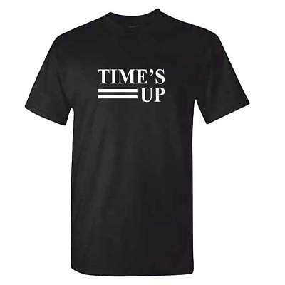 Unisex TIMES UP Tshirt - Time's Up T Shirt - Ladies Womens Equal Rights Feminist