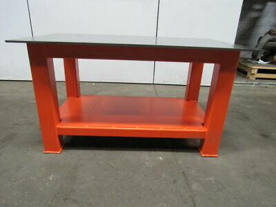 "H.D. 1/2"" Thick Top Steel Fabrication Layout Welding Table Work Bench 59"" x 35"""