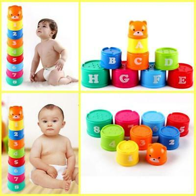 Cup Letters Folding Educational Toy Baby Figures Kids Pagoda Children 1 Set