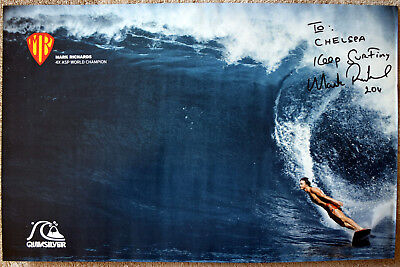 """Mark Richards 4 Time Surfing World Champion Hand Signed Poster 17""""X10.5"""""""