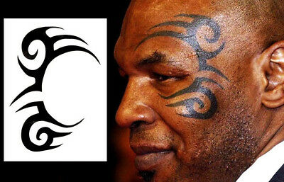 High Quality 11cm x 9cm Temporary Tattoo Mike Tyson Waterproof Body Art
