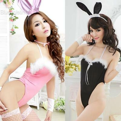 Sexy Adult Body Suit Lingerie Bunny Cosplay Costume BLLT