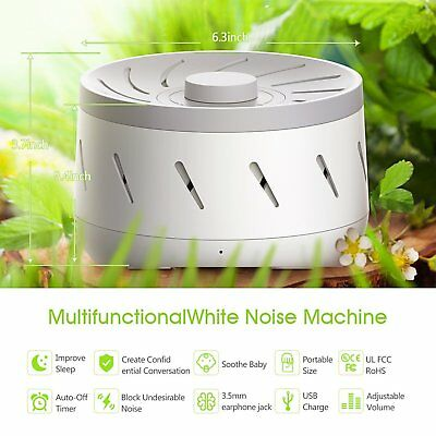 White Noise Sound Machine - Real Fan Inside USB Charger Relax Easy Sleep Therapy